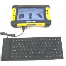 Trimble Gatewing X100 Flexible USB Keyboard, Water-Resistant